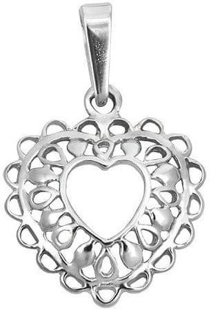 Brilio Silver Stříbrný přívěsek Filigránové srdce 441 001 02024 04 ... 3c9a38cf477
