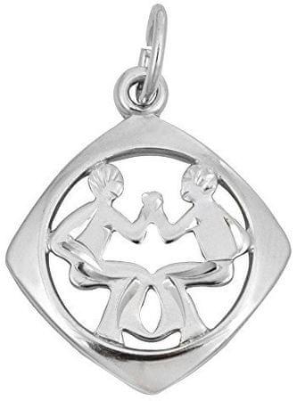 Brilio Silver Stříbrný přívěsek Blíženci 441 001 00872 04 - 1,13 g stříbro 925/1000