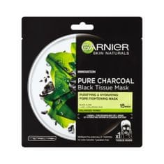 Garnier Černá textilní maska s extraktem zmořských řas Pure Charcoal Skin Naturals (Black Tissue Mask) 28 g