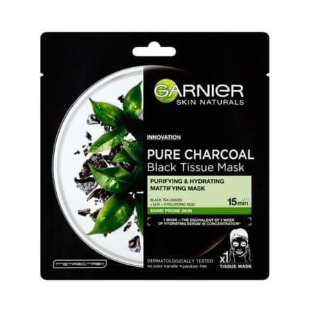 Garnier Czarna maseczka z ekstraktem z czarnej herbaty Skin Natura l s Pure Charcoal Skin Natura l s (Black