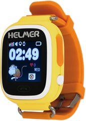 Helmer Chytré dotykové hodinky s GPS lokátorem a SIM kartou GoMobil s kreditem 50 Kč LK 703 žluté