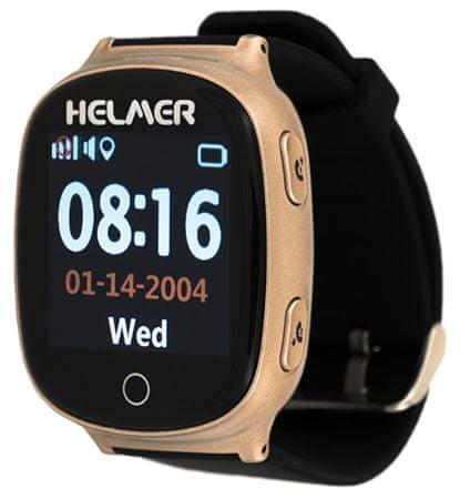 Helmer Chytré dotykové hodinky s GPS lokátorem a SIM kartou GoMobil s kreditem 50 Kč LK 705