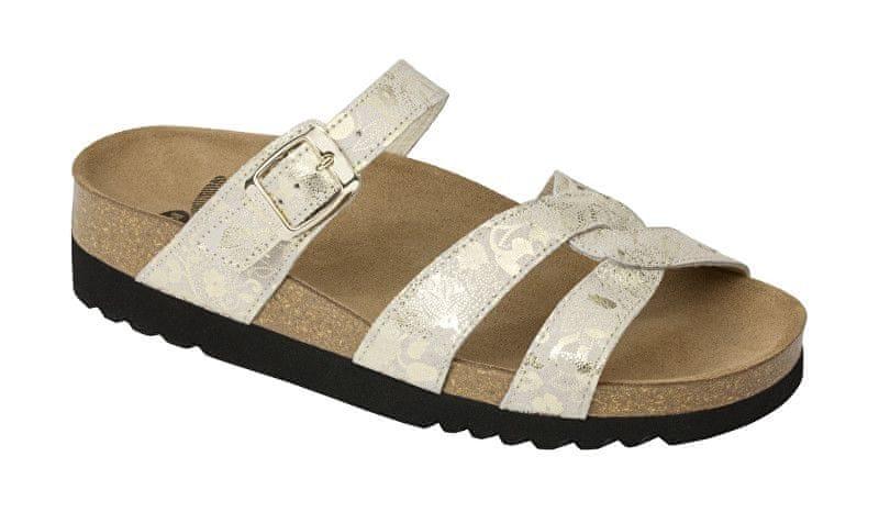 42dabd9603 Scholl Zdravotní obuv CAMBERRA - platinum (Velikost 36)