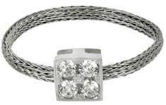 Brilio Silver Srebrny dziergany pierścień 421 063 00002 04 - 0,89 g srebro 925/1000