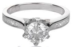 Brilio Silver Stříbrný zásnubní prsten 426 158 00075 - 2,50 g stříbro 925/1000
