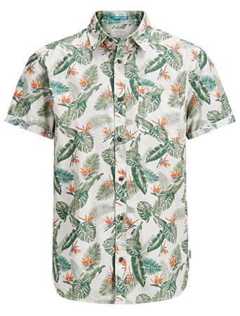Jack&Jones Pánska košeľa Jorpaka Shirt SS Silver Birch (Veľkosť M)
