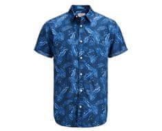 Jack&Jones Jorpaka Shirt SS Dark Denim férfi ing