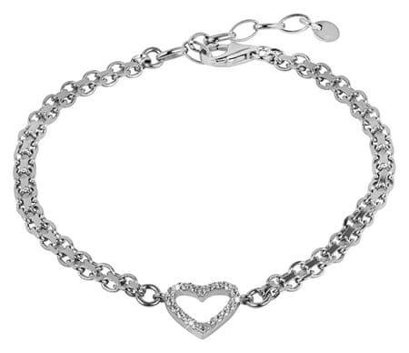 Brilio Silver Romantický náramek Srdce 18 cm 461 063 00837 04 - 5,62 g stříbro 925/1000