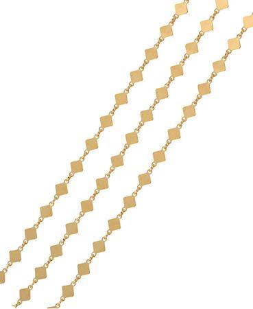 Brilio Silver Pozlacený náhrdelník se čtverečky 45 cm 473 080 00027 05 - 2,37 g stříbro 925/1000