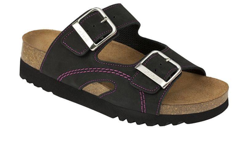 5f6fd827556f Scholl Zdravotní obuv MOLDAVA WEDGE AD - černá fuchsiová (Velikost 37)