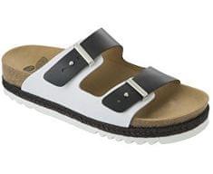 Scholl Zdravotní obuv RIO WEDGE AD - černá/bílá