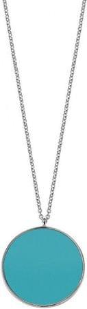 Morellato Stříbrný náhrdelník s tyrkysovým přívěskem Perfetta SALX06 (řetízek, přívěsek) stříbro 925/1000