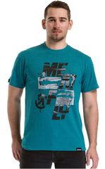 MEATFLY Koszulka męska Burn out T-shirt B- Jade Green