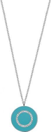 Morellato Strieborný náhrdelník s tyrkysovým príveskom Perfetti SALX19 striebro 925/1000