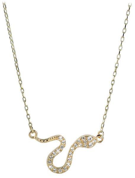 25cd70ca3 Brilio Zlatý náhrdelník Had s krystaly 279 001 00080 - 2,40 g zlato žluté