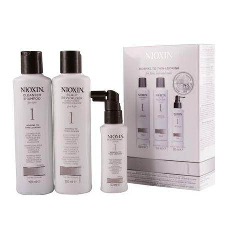 Nioxin Sada vlasovej starostlivosti pre jemné mierne rednúce prírodné vlasy System 1