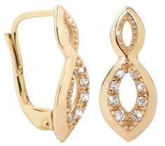 Brilio Náušnice ze žlutého zlata s krystaly 239 001 00673 - 1,95 g zlato žluté 585/1000