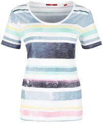 s.Oliver Dámske tričko 14.805.32.3058.52H4 Artic Sky Structured Stripe s