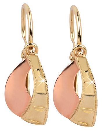 Brilio Dětské zlaté náušnice 232 001 00234 - 0,95 g zlato růžové 585/1000