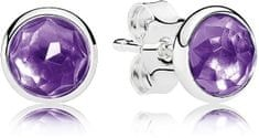 Pandora Stříbrné náušnice pro narozené v únoru 290738SAM stříbro 925/1000