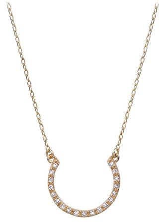 Brilio Zlatý náhrdelník s kryštálmi 279 001 00081 - 2,55 g žlté zlato 585/1000
