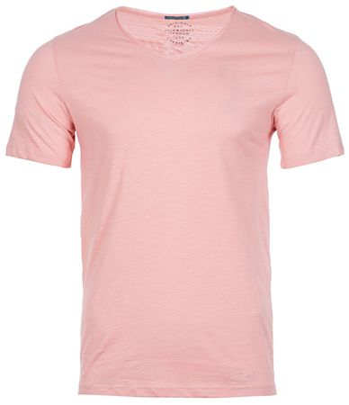Jack&Jones Pánske tričko Jorbirch Tee Ss V-neck Silver Pink Slim (Veľkosť S)