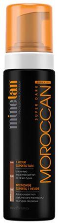 Minetan Samoopaľovacie pena pre veľmi tmavé opálenie Moroccan (Super Dark 1 Hour Express Tan) 200 ml