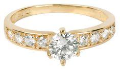 Brilio Zlatý prsten s krystaly 229 001 00761 zlato žluté 585/1000