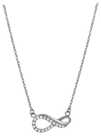 Brilio Zlatý náhrdelník Nekonečno s kryštálmi 279 001 00087 07 - 2,10 g biele zlato 585/1000