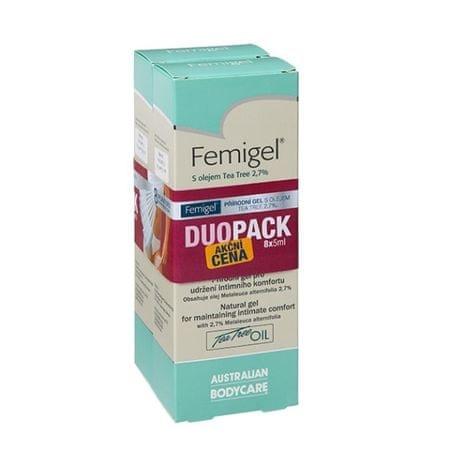 AUSTRALIAN BODYCARE Femigel s olejom Tea Tree 2,7% Duopack 8 x 5 ml