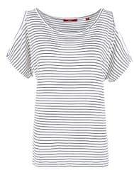s.Oliver Dámske tričko 04.899.32.4817.58G0 Eclipse Blue Stripes