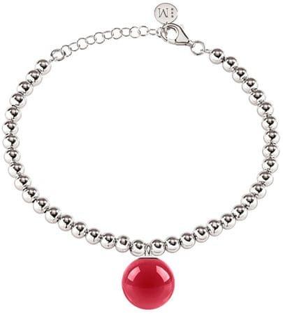 Morellato Stalowa bransoletka z różowym zawieszeniem SALY23