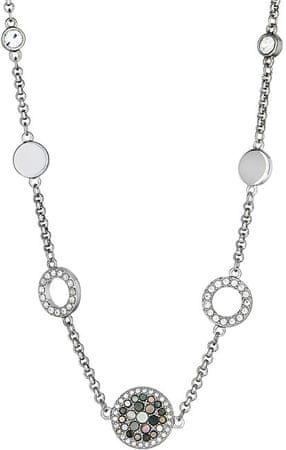Fossil Oceľový náhrdelník s perleťou JF02312040