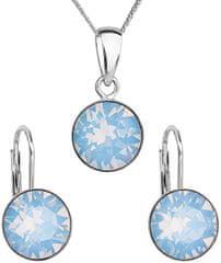Evolution Group Strieborná súprava šperkov 39140.7 blue opal striebro 925/1000