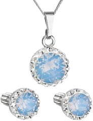 Evolution Group Trblietavá súprava šperkov 39152.7 blue opal striebro 925/1000