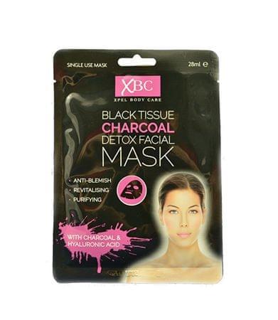 Xpel Pleť hálózati maszk faszénnel Charcoal Detox 3D (Detox Facial Mask) 28 ml