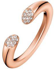 Calvin Klein Otwórz różowy złoty pierścionek z kryształem Brilliant KJ8YPR1401