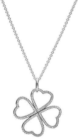 Pandora Ezüst nyaklánc lóhere medállal 390381CZ-90 ezüst 925/1000