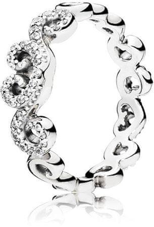 Pandora Romantikus szív gyűrű 197117CZ (áramkör 50 mm-es) ezüst 925/1000