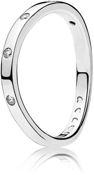 Pandora Stříbrný prsten s třpytivými kamínky 197113CZ (Obvod 56 mm) stříbro 925/1000