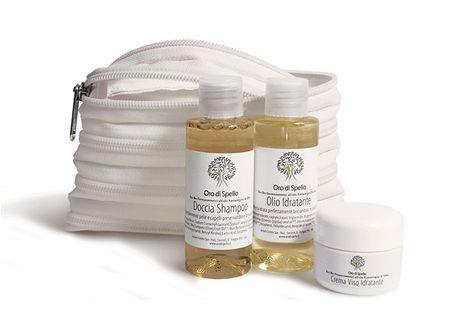 Oro di Spello Cestovná sada BIO produktov z extra panenského olivového oleja v miniatúrnom balení