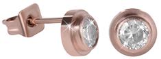 Troli Bronzové ocelové náušnice pecičky s krystalem