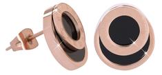 Troli Růžově pozlacené ocelové náušnice s římskými číslicemi