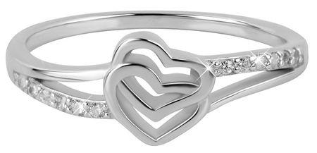 Troli Zakochany pierścień z sercami (obwód 50 mm) srebro 925/1000