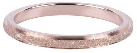 Troli Bronzový oceľový trblietavý prsteň (Obvod 50 mm)