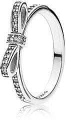 Pandora Třpytivý prsten s mašličkou 190906CZ stříbro 925/1000