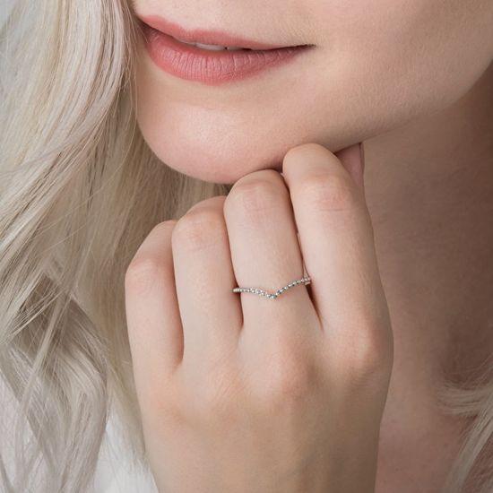 Pandora Srebrni prstan z biseri 196315 srebro 925/1000