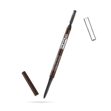Pupa Automatická tužka na obočí s hřebínkem (High Definition Eyebrow Pencil) 0,9 g (Odstín 004 Extra Dark