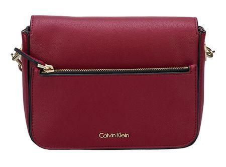 Calvin Klein Dámská kabelka Night Out Small Shoulder Bag Red Dahlia
