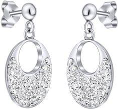 Silvego Stříbrné náušnice se Swarovski krystaly SILVEGOB36096 stříbro 925/1000